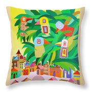 Branch Over The City Throw Pillow