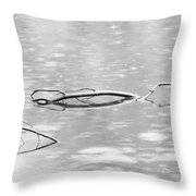Branches In Silver Waters Throw Pillow