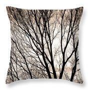 Branches Silhouettes Mono Tone Throw Pillow