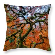 Branching Out In Autumn Throw Pillow
