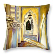 Brand Library Hall Throw Pillow