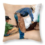 Branding Day Throw Pillow