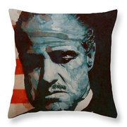 The Godfather-brando Throw Pillow