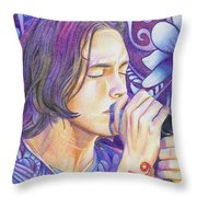 Brandon Boyd Throw Pillow by Joshua Morton