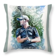 Branden Grace Watercolor Throw Pillow