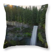 Brandywine Falls Sunset  Throw Pillow by Michael Ver Sprill