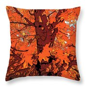 Brandywine  Maple Fall Colors 2 Throw Pillow