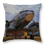 Branson Airshow 2009 Throw Pillow