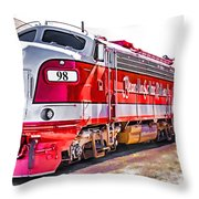 Branson Engine 98 Throw Pillow