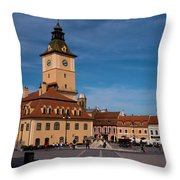 Brasov Council Square Throw Pillow