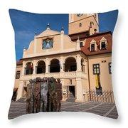 Brasov Town Hall Throw Pillow