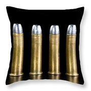 Brass And Lead Bullets. Throw Pillow