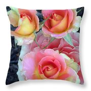 Brass Band Roses Throw Pillow