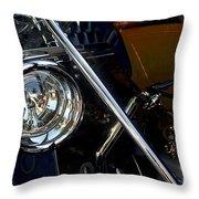 Brass Era Headlamp Throw Pillow