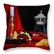 Brass, Glass And Silver Throw Pillow