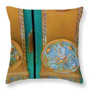 Brass Is Green Throw Pillow