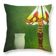 Brass Lampshade Throw Pillow