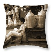 Brassed Off. Throw Pillow