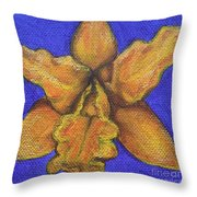 Brassolaeliocattleya Hybrid Throw Pillow