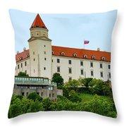 Bratislava Castle One Throw Pillow