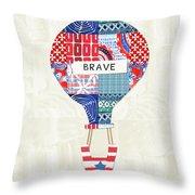 Brave Balloon- Art By Linda Woods Throw Pillow