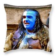 Braveheart Busker In Edinburgh Throw Pillow