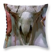 Bravery And Strength Throw Pillow