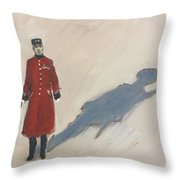 Bravery Has A Shadow - The Chelsea Pensioner  Throw Pillow