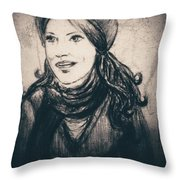 Braving The Storm Framed Throw Pillow