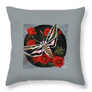 Braving The Thorns Throw Pillow