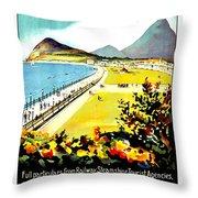 Bray, Ireland, Coast, Scenery Throw Pillow