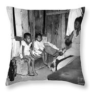 Brazil: Favela, 20th Century Throw Pillow