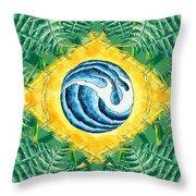 Brazil Wave 01 Throw Pillow