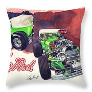 Brazilian Hot Rod V8 Throw Pillow