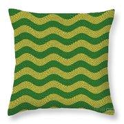Brazilian Paving Pattern In Brazilian Colours. Throw Pillow