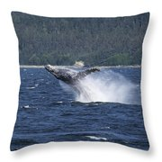 Breaching Whale. Throw Pillow