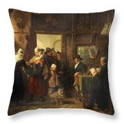 Bread And Alms Throw Pillow