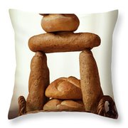 Bread Tower Throw Pillow