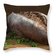 Bread With Spice Throw Pillow