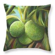 Breadfruits St Kitts Throw Pillow