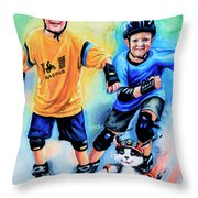 Break Away Throw Pillow by Hanne Lore Koehler