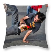 Break Dancer - Color Throw Pillow