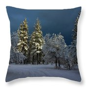 Break In The Storm Throw Pillow