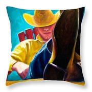 Break Time Throw Pillow by Shannon Grissom