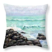 Breakers Throw Pillow