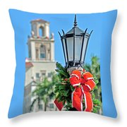 Breakers At Christmas Throw Pillow
