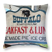 Breakfast And Lunch Throw Pillow