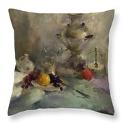 Breakfast Aristocrat Throw Pillow