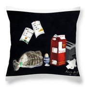 Breakfast At Six O'clock Throw Pillow