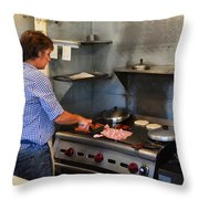 Breakfast Chef Throw Pillow